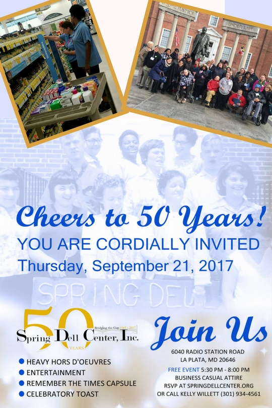 """Join us as we """"Cheer to 50 Years!"""" Click here to RSVP."""