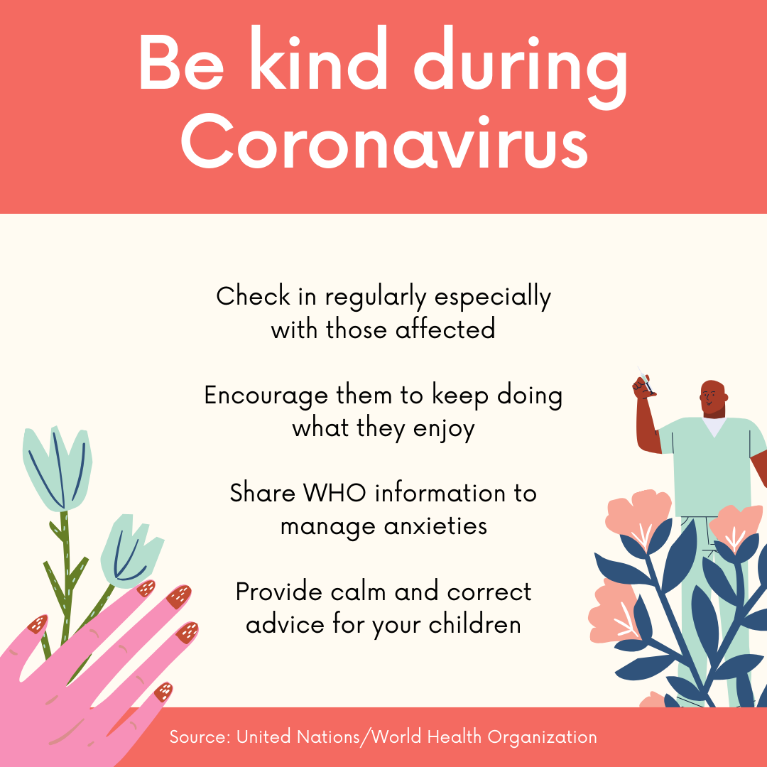 Red Orange Be Kind During Coronavirus Instagram Post