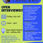 Spring Dell's Summer Open Interview Day!